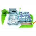 Schéma maison 3D Double flux et Puits canadien