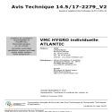 AVIS TECHNIQUE VMC HYGRO INDIVIDUELLE 14.5/17-2279 V1