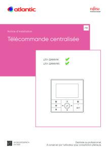 TELECOMMANDE CENTRALISEE notice installation UTY-DMMYM DMMYM1 ATLANTIC
