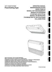 CONSOLEES/PLAFONNIERS CONFORT R410A notice utilisation ABYG 14 18 LVTA  ABYG 18 LVTB ATLANTIC
