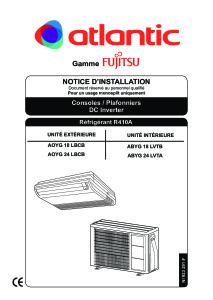 Notice d'installation ABYG 18 24 LVTBB
