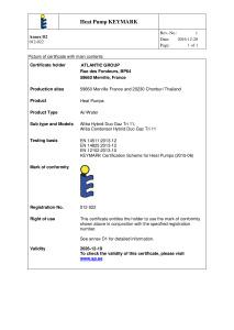CERTIFICAT HP KEYMARK ALFEA HYBRID DUO GAZ  TRI 11