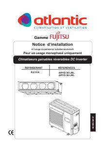 Notice d'installation ARYG 30 36 LML