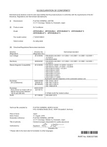 Déclaration de conformité ARYG 22 24 36 45 LMLA