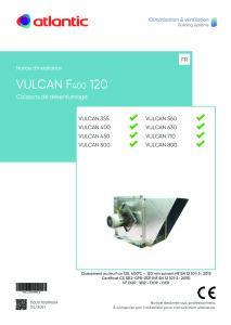 VULCAN F400 120 notice installation ATLANTIC