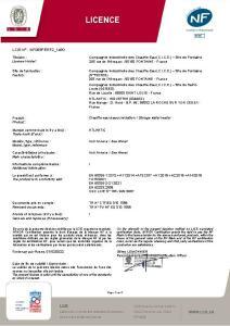 CHAUFFEO PLUS VM COMPACT Certificat NF