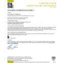 Certificat Keymark Hynea