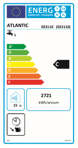 CHAUFFEO HM Etiquette energetique 023110 Atlantic
