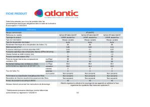 NOVA HR MAX fiche erp 300 BT a 800 BT ATLANTIC