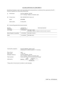 Déclaration de conformité Convertisseur KNX Unité Intérieur UTY-VKSX
