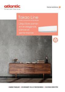 TAKAO LINE CONFORT PLUS documentation commerciale ATLANTIC