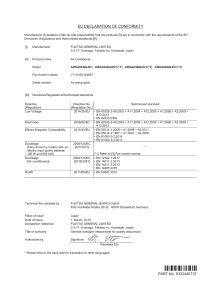 GAINABLE MOYENNE PRESSION ARXA declaration de conformité ARXA 24-30-36-45 GLEH ATLANTIC