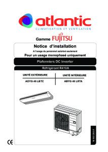 Notice d'installation ABYG 45 LRTCC