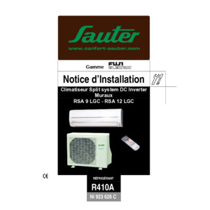 Notice d'installation RSA 9 12 LGC