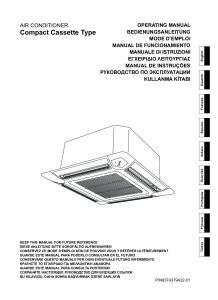 CASSETTES 600X600 CONFORT R410A MULTI-SPLITS notice utilisation AUYG 7 9 12 14 18 LVLA LVLB ATLANTIC