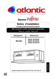 Notice d'installation Unités intérieures VRF Gainables haute pression ARXC 45 GATH