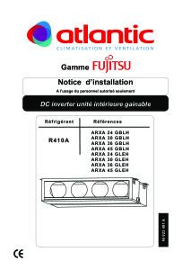 GAINABLE MOYENNE PRESSION ARXA notice installation ARXA 24-30-36-45 GBLH-GLEH ATLANTIC