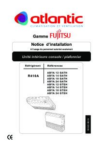 CONSOLES PLAFONNIERS ABYA notices installation ABYA 12 14 18 24 GTEH ATLANTIC