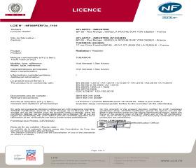 Licence NF Mythik Alu Horizontal