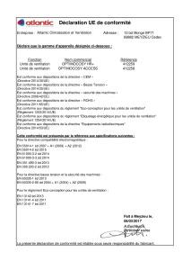 Déclaration de conformité OPTIMOCOSY HR+ / ACCESS