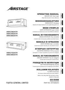 GAINABLE HAUTE PRESSION ARXC notice utilisation ARXC 36 45 60 72 90 GATH ATLANTIC