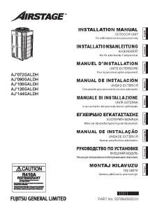 VRF MAX 4R notice installation AJY 72 90 108 126 144 GALBH ATLANTIC