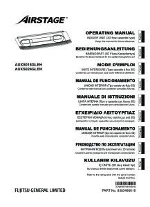 Notice d'Utilisation AUXS 18-24 GLEH