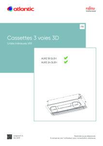 CASSETTES 3 VOIES 3D notice installation AUXS 18-24 GLEH ATLANTIC