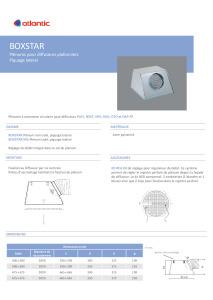 PLENUMS BOXSTAR fiche produit ATLANTIC
