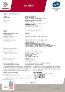 SOLIUS Digital Vertical Certificat NF
