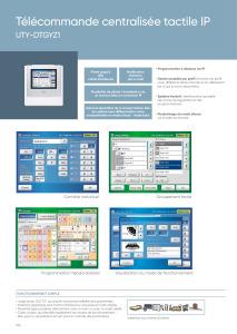 TELECOMMANDE CENTRALISEE TACTILE IP fiche prescription ATLANTIC
