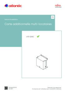 CARTE ADDITIONNELLE MULTI-LOCATAIRES notice installation UTZ-GXXC ATLANTIC