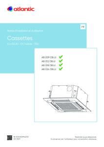 CASSETTES 600X600 DOJO ECO notice installation et utilisation AB 009 012 018 024 DB ATLANTIC