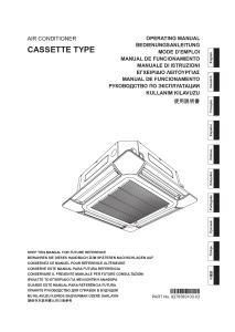 CASSETTES 800X800 CONFORT R410A notice utilisation ATLANTIC