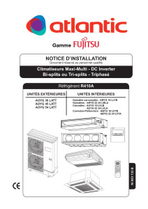 Notice d'installation AOYG 36 45 54 LATT