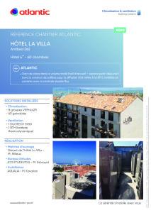 FICHE REFERENCE CHANTIER HOTEL LA VILLA  ATLANTIC