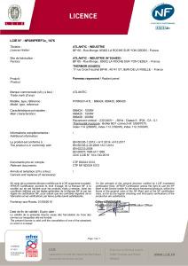 TATOU Vertical Certificat NF