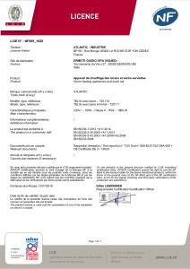 TELIA Certificat NF