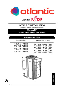 XTREMVRF notice installation AJY 72 90 108 126 144 162 LNLBH ATLANTIC