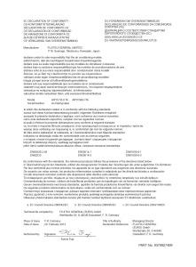 Déclaration de conformité ARYC 72 90 LHT UI