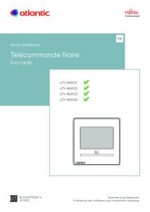 TELECOMMANDE FILAIRE A ECRAN TACTILE notice installation UTY-RNRYZ1 Z2 Z3 Z4 Z5 ATLANTIC