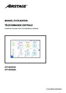 TELECOMMANDE CENTRALISE TACTILE notice utilisation ATLANTIC