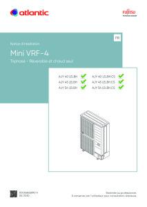 MINIVRF-4 notice installation TRIPHASE ATLANTIC