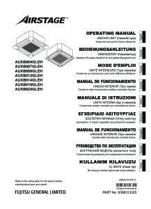 CASSETTES 600X600 COMPACTES AUXB notice utilisation AUXB 04 à 24 GLEH ATLANTIC