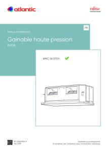 GAINABLE HAUTE PRESSION ARXC notice installation ARXC 36 GTEH ATLANTIC