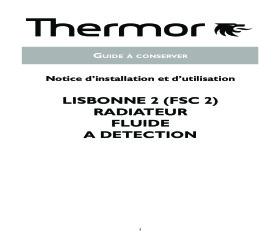 Notice Radiateur Chaleur Douce FSC2