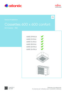 CASSETTES 600X600 notice installation AUXG 09-12-14-18-22-24 KVLA ATLANTIC