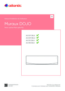 MURAUX DOJO ECO notice installation et utilisation ATLANTIC