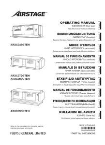 GAINABLE HAUTE PRESSION ARXC notice utilisation ARXC 36-72-90-96 GTEH ATLANTIC
